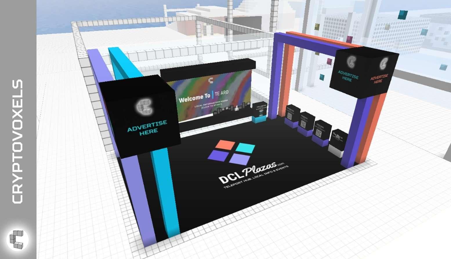 cryptovoxels dcl plazas model live
